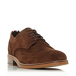 Dune - Brown 'Bagatelle' stripe detail brogues