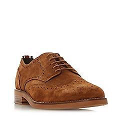 Dune - Tan 'Bagatelle' stripe detail brogue shoes