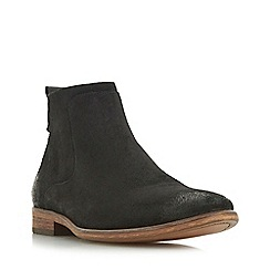 Dune - Black 'Commute' side zip boots