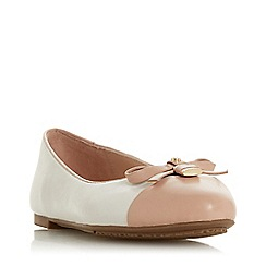 Dune - Light Pink Leather 'Heiress' Ballet Pumps