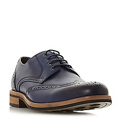 Bertie - Blue 'Packman' eyelet chunky brogue shoes