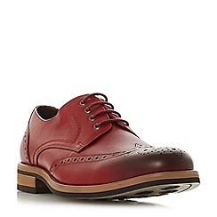 Bertie - Red 'Packman' eyelet chunky brogue shoes