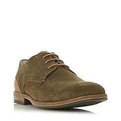 Dune - Khaki 'Barrie' Embossed Back Gibson Shoes