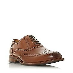 Dune - Tan 'Pollodium' heavy brogue shoes