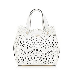 Dune - White 'Daser' Laser Cut Tote Bag