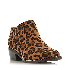 Head Over Heels by Dune - Multicoloured 'Pinnie' Mid Block Heel Ankle Boots