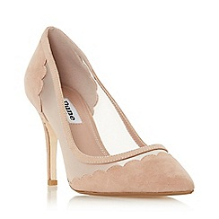Dune - Cappuccino Suede 'Bellevue' High Stiletto Heel Court Shoes
