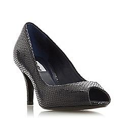 Dune - Navy 'Cherrice' mid stiletto heel court shoes