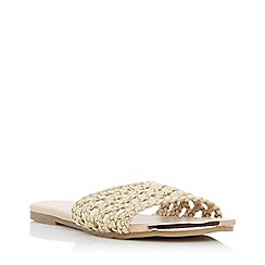 Head Over Heels by Dune - Gold 'Leeo' Mule Slippers