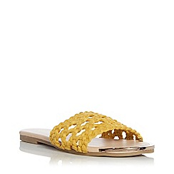 Head Over Heels by Dune - Yellow 'Leeo' Mule Slippers