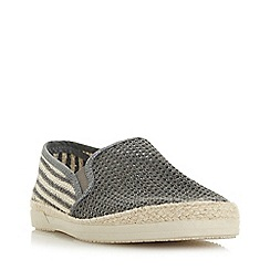 Bertie - Grey 'Isobar' Mesh Espadrille Shoes