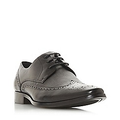 Dune - Black 'Steady' Textured Panel Brogues