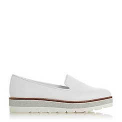 Dune - White Leather 'Gasp' Loafers