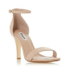 Dune - True nude leather 'Mydro' high stiletto heel ankle strap sandals