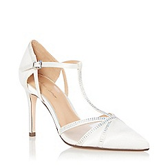 Roland Cartier - Ivory Satin 'Dernice' High Stiletto Heel Court Shoes