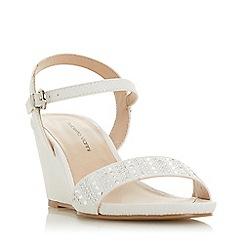 Roberto Vianni - White 'Kaijay' High Wedge Heel Ankle Strap Sandals