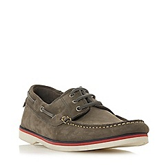 Bertie - Grey 'Battleship' Nubuck Lace Boat Shoes