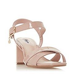 Dune - Cappuccino 'Megz' Mid Block Heel Ankle Strap Sandals