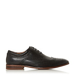 Dune - Black 'Sweeden H' Padded Ankle Brogue Shoes