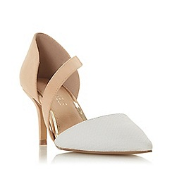 Head Over Heels by Dune - Natural 'Camellia' High Stiletto Heel Court Shoes