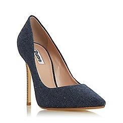 Dune - Navy 'Arianah' High Stiletto Heel Court Shoes