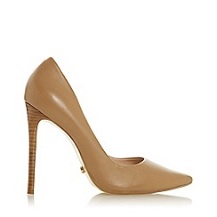Dune - Caramel Leather 'Arianah' High Stiletto Heel Court Shoes