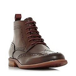 Dune - Brown 'Marila' Leather Brogues Boots
