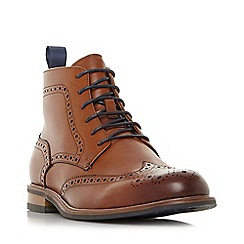 Dune - Tan 'Marila' Leather Brogues Boots