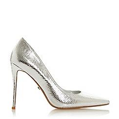 Dune - Silver 'Ariele' High Stiletto Heel Court Shoes