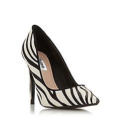 Dune - Zebra Leather 'Amarettii' High Stiletto Heel Court Shoes