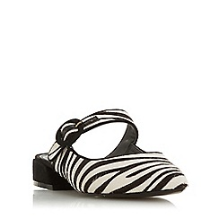Dune - Zebra Leather 'Donniie' Court Shoes