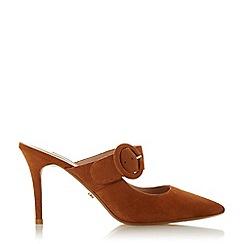 Dune - Camel Suede 'Desire' Mid Stiletto Heel Court Shoes