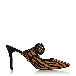 Dune - Tiger Leather 'Desire' High Stiletto Heel Court Shoes