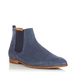 Dune - Blue 'Cranbrook' Suede Chelsea Boots