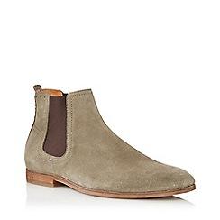 Dune - Cream 'Cranbrook' Suede Chelsea Boots