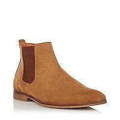 Dune - Tan 'Cranbrook' Suede Chelsea Boots