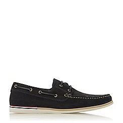 Dune - Navy 'Blainess' Nubuck Boat Shoes