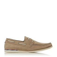 Dune - Camel 'Blainess' Nubuck Boat Shoes