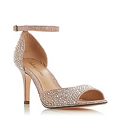 Roland Cartier - Rose Gold 'Minda' High Stiletto Heel Peep Toe Shoes