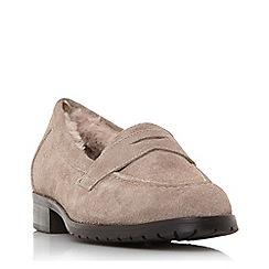 Dune Black - Grey suede 'Glenbrooke' loafers