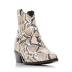 Dune - Multi leather 'Panchoe db' mid block heel ankle boots