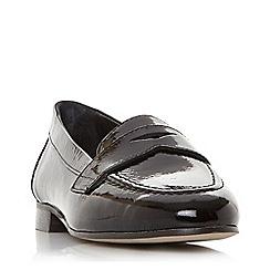 Dune - Black leather 'Gantt db' loafers