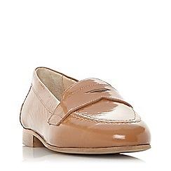 Dune - Tan leather 'Gantt db' loafers