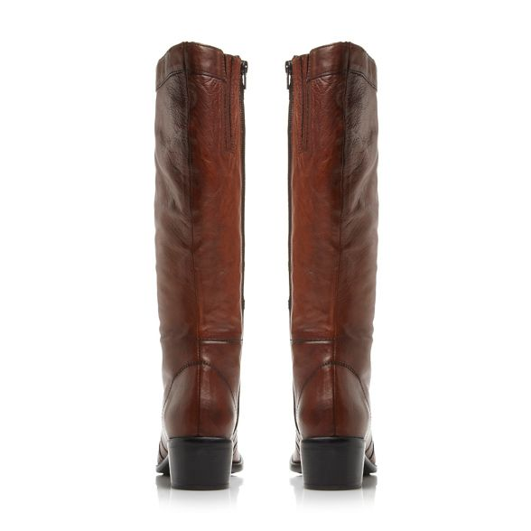 knee 'Pixie d' Dune Tan detail high boots button leather vaqSw