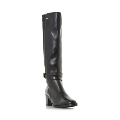 Dune - Brown 'Vivv' stretch back knee high boot