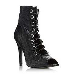 Dune - Black 'Omenie' leather lace up shoe boot