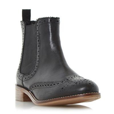 Dune - Black 'Quenton' brogue chelsea boot