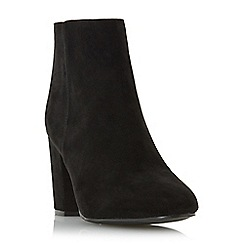 Head Over Heels by Dune - Black 'Olive' block heel ankle boot