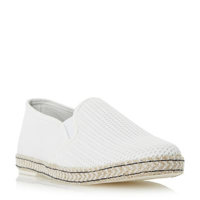 Dune - Off white 'Fencing' mesh vamp espadrille shoe