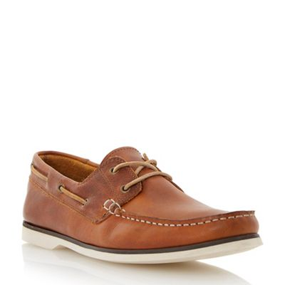 Bertie - Tan leather 'Battleship' classic leather Tan boat shoe 844c39